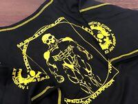 Muscle Gym Rag Top Rag-Top Black/yellow BodyBuilding Training Lifting xl