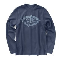 Lucky Brand Mens M - NWT Navy Triumph Motorcycle Reversible Thermal Sweatshirt