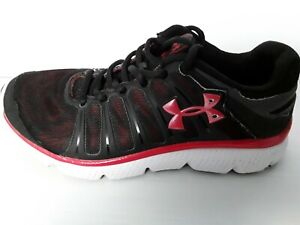 Girls Under Armour Sneakers- Black/ Red  - Size - Youth  3