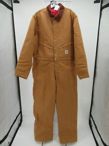P5681 VTG Men's Carhart Quilt Lined Duck Coveralls Size 46 Tall