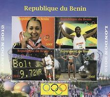 LONDON OLYMPICS 2012 JESSICA ENNIS USAIN BOLT STAMPS SHEETLET MNH