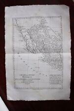 ✒ ca.1780 grande CARTE Etats Unis Mexique Nouveau Mexique Louisiane Floride