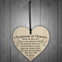 Christmas in Heaven' Heart Plaque/Sign Friendship Xmas Party Decorations DIY