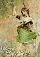 """perfect  24x36 oil painting handpainted on canvas """"a beautiful girl dancing """"800"""