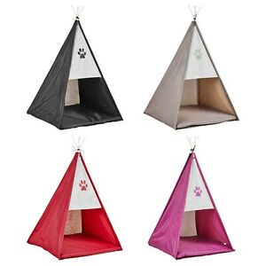 Foldable Garden Pet Tepee House Cats Dogs Puppy Kitten Indoor Outdoor Tent Mat