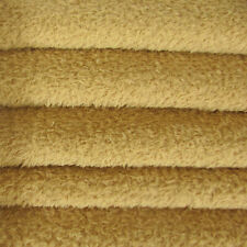 1/4 yd Vis1/Scm Vintage Gold Intercal 6mm Med. Dense Curly Matted Viscose Fabric