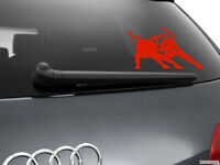 Bull Car Sticker Styling Window Decal, Red