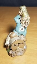 Tom Clark Gnome DARN Edition #34 1988 COA Signed! Thimble Sewing Spool