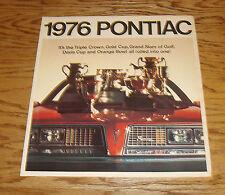 Original 1976 Pontiac Full Line Sales Brochure 76 Firebird Grand Prix