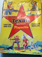 Real Texan Vintage  Vest & Chaps  Kids Cowboy outfit with box.