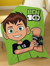 Extra Large - Official Ben 10 Super Soft Fleece Blanket Boys Kids Child Throw