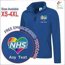 Mostrar su amor corazón Arco Iris Personalizado Bordado NHS Chaqueta de personal médico