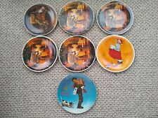 7 Norman Rockwell Christmas Collector Plates 1978-1981 Knowles w/boxes & Coa