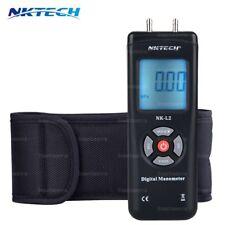 NKTECH NK-L2 LCD Anzeigen Digital Manometer Druckanzeige Luftdruckmesser 2Psi BK