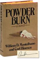 Carl Hiaasen POWDER BURN Signed First Edition 1981 #150090