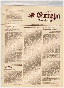 GRD Europa Newsletter #1 May 1976 - Very Fine