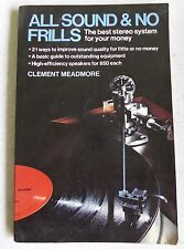 All Sound and No Frills by Clement Meadmore (1978, Paperback)