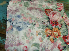 Set 4 Ralph Lauren cloth napkins pink roses bouquets Rare pattern chic kitchen