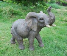 Elephant Garden Statue Animal Sculpture Figure Indoor Outdoor Accent Decor 12'H