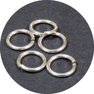 9mm Jump Ring (1.0mm THICK) Sterling Silver 925 Heavy 18 Gauge 5 pack sizes C18