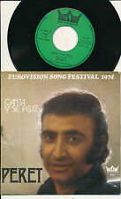 "EUROVISION 1974 45 TOURS 7"" BELGIUM PERET CANTA Y SE FELIZ"