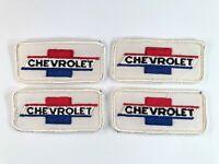 LOT OF 4 Vintage GENUINE CHEVROLET Fabric Patches CAR DEALER MECHANIC