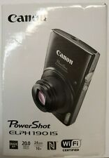 Canon PowerShot ELPH 190 IS 20 MP 10X Zoom Digital Camera (Black)