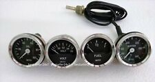 "Smiths Replica 52 mm 2 1/16"" Gauges Kit - Temp + Oil + Fuel + Volt Gauge"