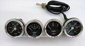 """Smiths Replica 52 mm 2 1/16"""" Gauges Kit - Temp + Oil + Fuel + Volt Gauge"""