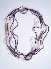 Halskette Muschelkette echte Muscheln Kette Collier Perlen Perlenkette Ton bunt