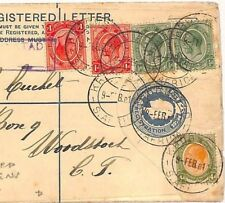 ZZ76 SOUTH AFRICA Cover 1911 *Kroonstad*KEVII Registered Stationery MIXED REIGNS