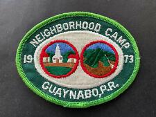 Puerto Rico 1973 BOY SCOUTS, NEIGHBORHOOD CAMP, GUAYNABO PR
