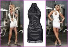 Weisses  Kleid im Leder Look  Gr M auch im schwarz im shop