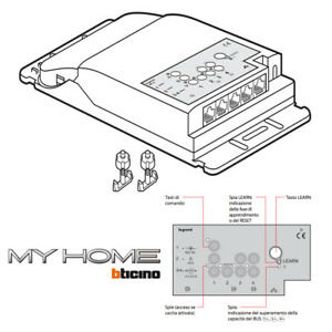 BTICINO BMWS3003 SCS Room Controller 4 Outputs LEGRAND MYHOME