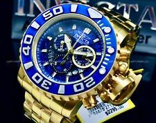 NEW Invicta SEA HUNTER Gen II 70MM SWISS MOVT 18 K GP Chrono S.S Bracelet Watch