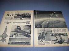 VINTAGE..NORTH AMERICAN X-15 ...STORY/HISTORY/PHOTOS..RARE! (310E)