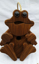 "Rustic Amish Crafted ""Frog Look"" Birdhouse - Lancaster Cnty - Pa"