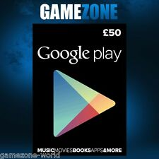 £50 Google PLAY Store UK Gift Card - 50 Pounds Google Play Android GBP Key Code