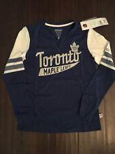 Toronto Maple Leafs NEW Women's Medium Henley . NHL Hockey Ladies NWT Fan Gift