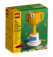 Brand New, Sealed - Lego Trophy (40385) - 200 Pcs - Customized With Stickers