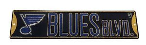 """New NHL St. Louis Blues Home Decor AVE Street Sign 16"""" x 3.75"""" Plastic"""