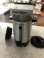 Hamilton Beach 45-Cup Stainless Steel Coffee Urn with One-Handed Dispensing