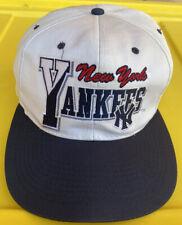 Vintage 90s New York Yankees Buffalo Cap 2 Tone Snapback Hat Cap MLB