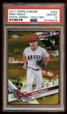 PSA 10 MIKE TROUT 2017 TOPPS CHROME #D 01/50 GOLD REFRACTOR  ANGELS SUPERSTAR !