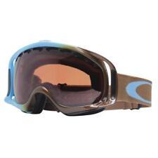 Oakley 02-844 CROWBAR Pale Blue Brown Frame w/ VR28 Lens Mens Snow Ski Goggles .