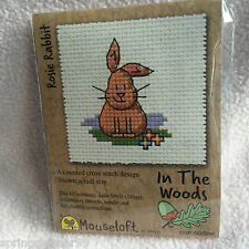 Mouseloft stitchlets CROSS STITCH KIT ~ IN THE WOODS ~ Rosie CONIGLIO ~ NUOVO