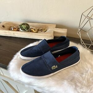 LACOSTE MEN'S MARICE Canvas 2 Avail Lightweight Slip-on Shoes Loafers SIZE 12