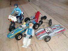 Lot Jouets tole et plastique JOUSTRA old toys dont rare voiture F1 INDIANAPOLIS