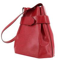 LOUIS VUITTON Sac Depaule Shoulder Bag Red Epi M80197 France Authentic #AB705 Y