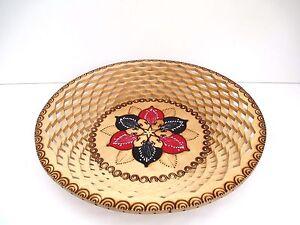 """Handmade wooden fruit basket bowl 19,5"""" wide home decoration"""